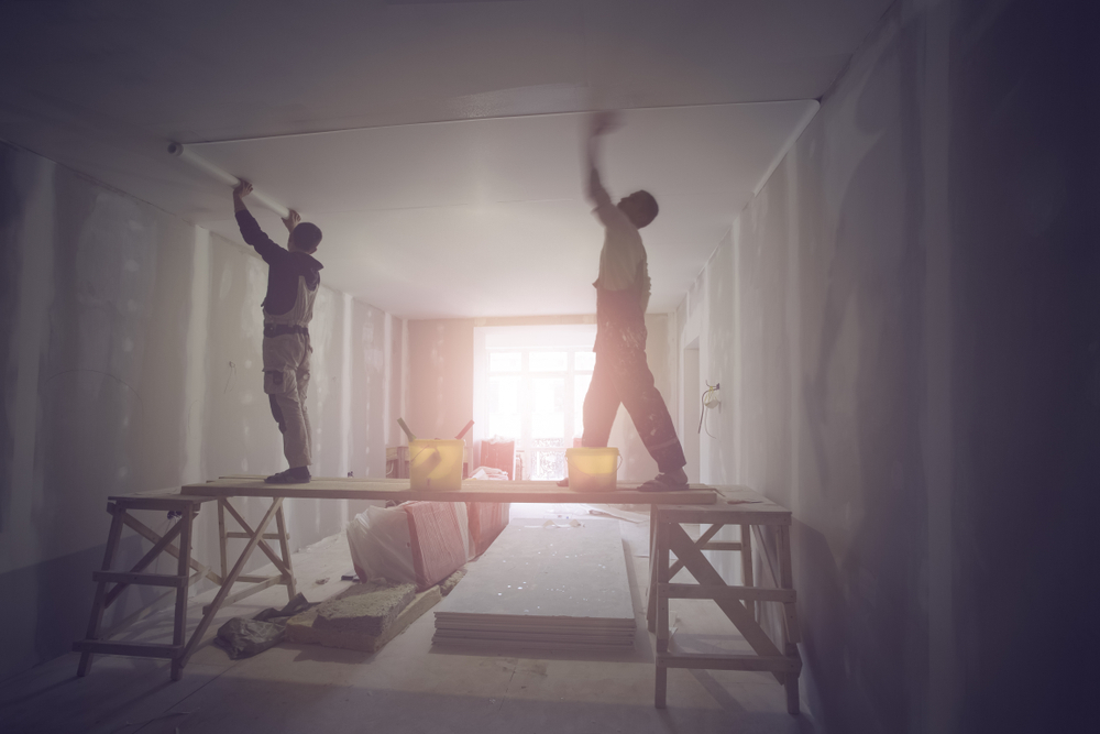 Carpenters Fixing the Ceiling